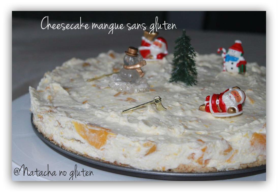 Cheesecake sans gluten aux mangues