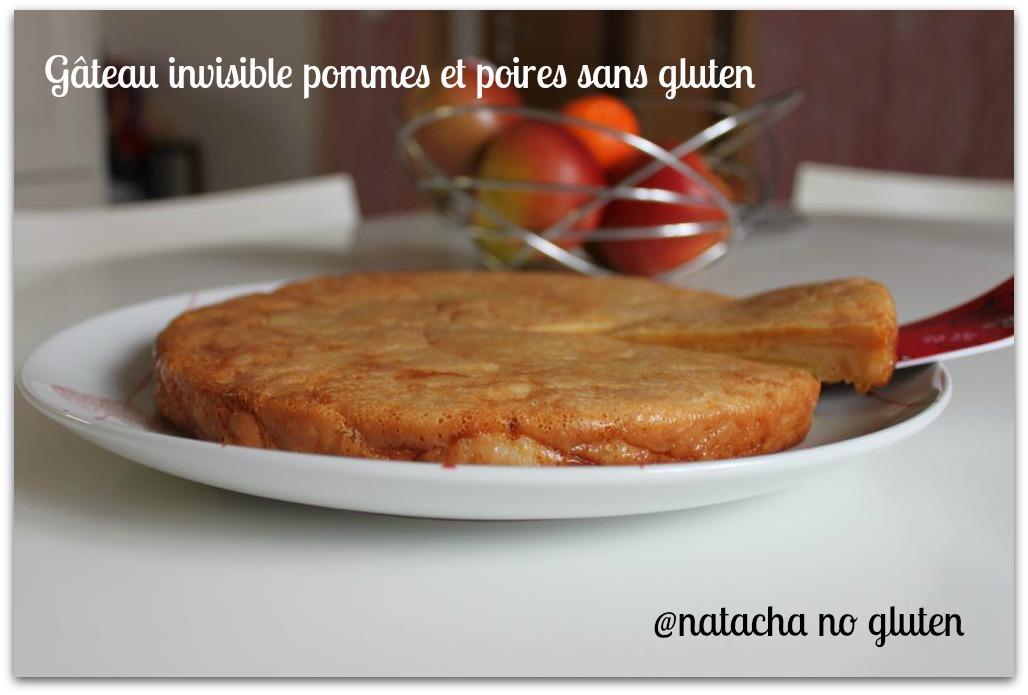 Gâteau invisible poires pommes sans gluten