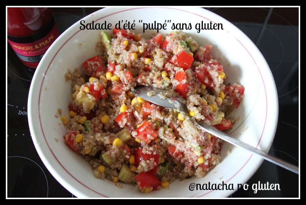 Salade estivale pulpée au quinoa sans gluten