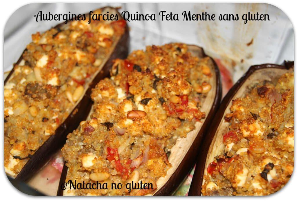Aubergines farcies quinoa et feta sans gluten