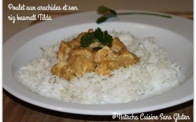Poulet aux arachides et son riz Basmati Tilda