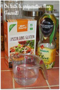 test de la préparation pizza Mon Fournil