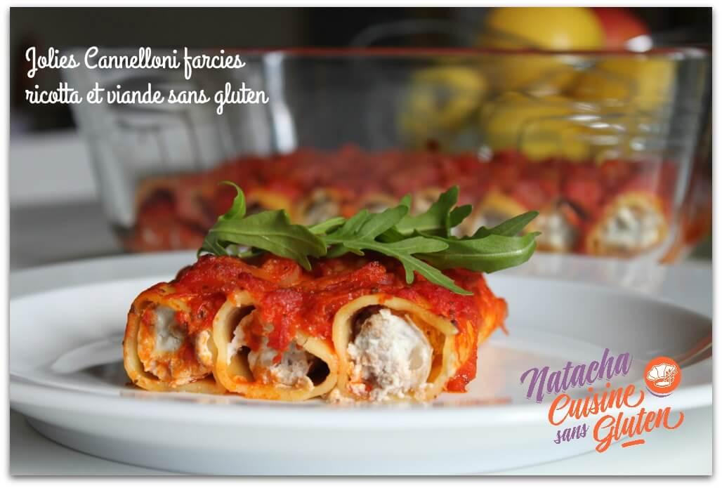 Cannelloni farcies ricotta et viande sans gluten