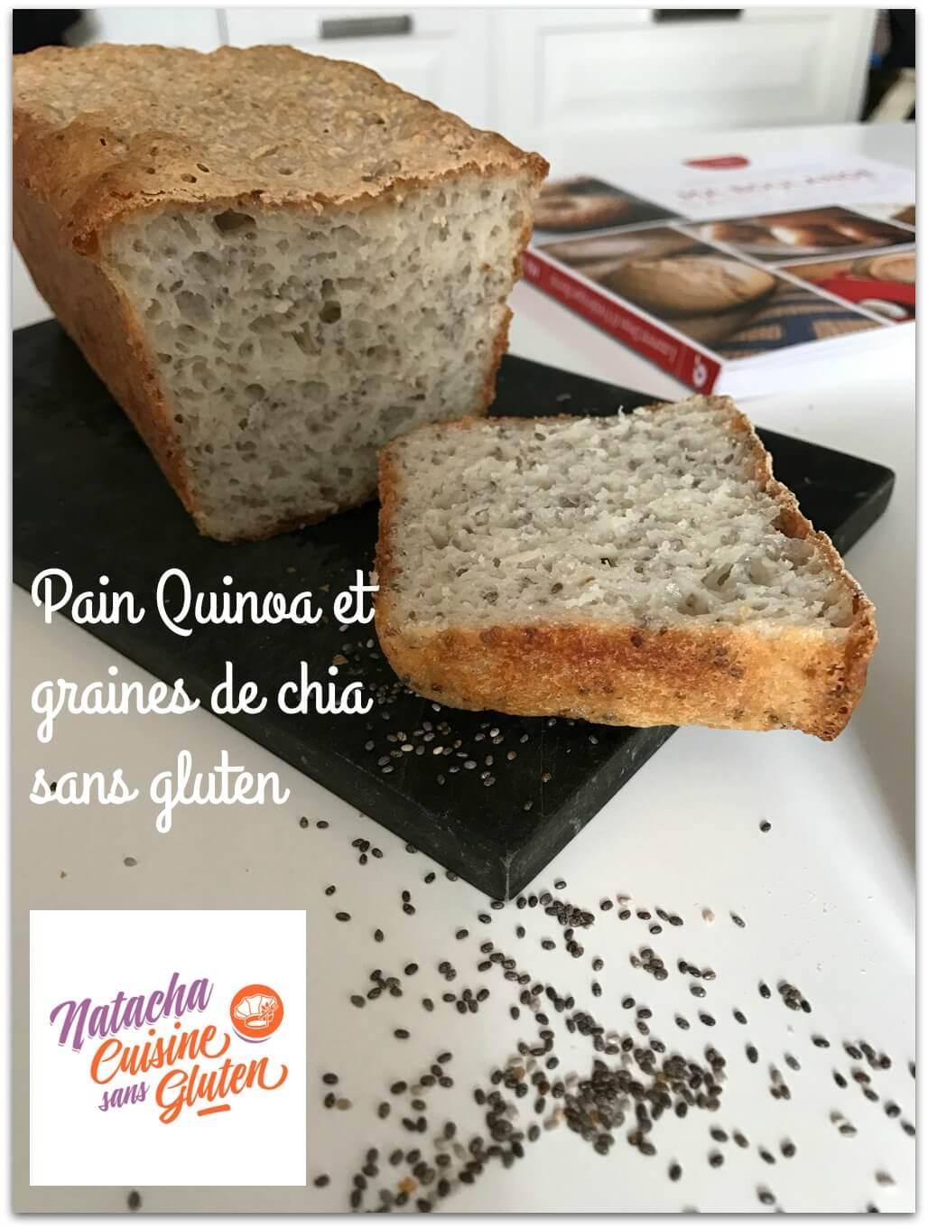 Pain quinoa et graines de chia sans gluten ma cuisine - Je cuisine sans gluten ...