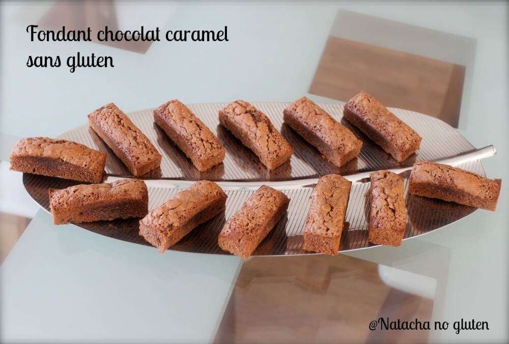 Mini fondant chocolat caramel sans gluten
