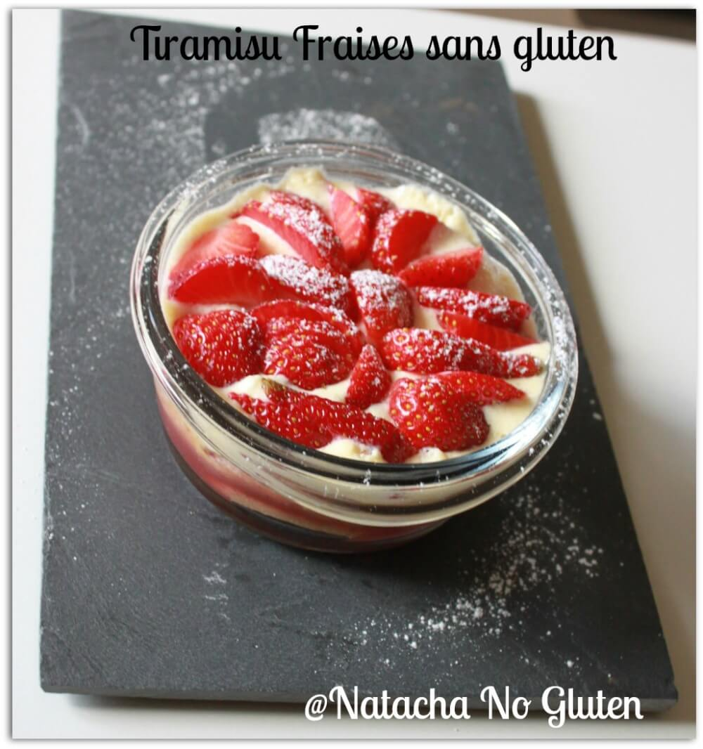 Tiramisu Fraises Sans Gluten