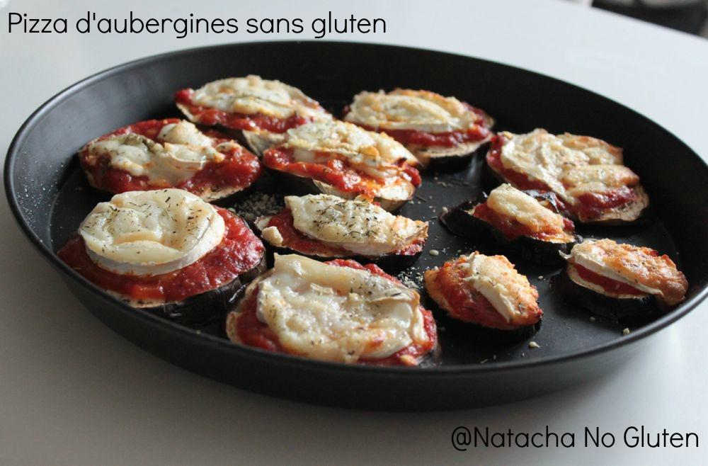 Pizza d'aubergines au chèvre sans gluten