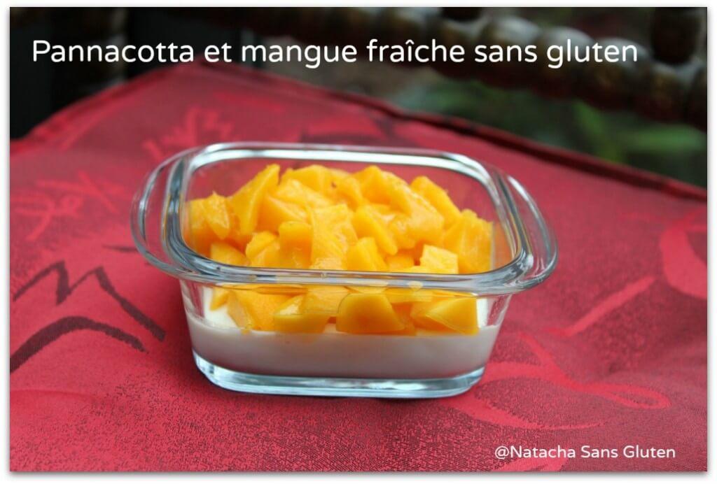 Panna cotta et sa mangue fraiche sans gluten
