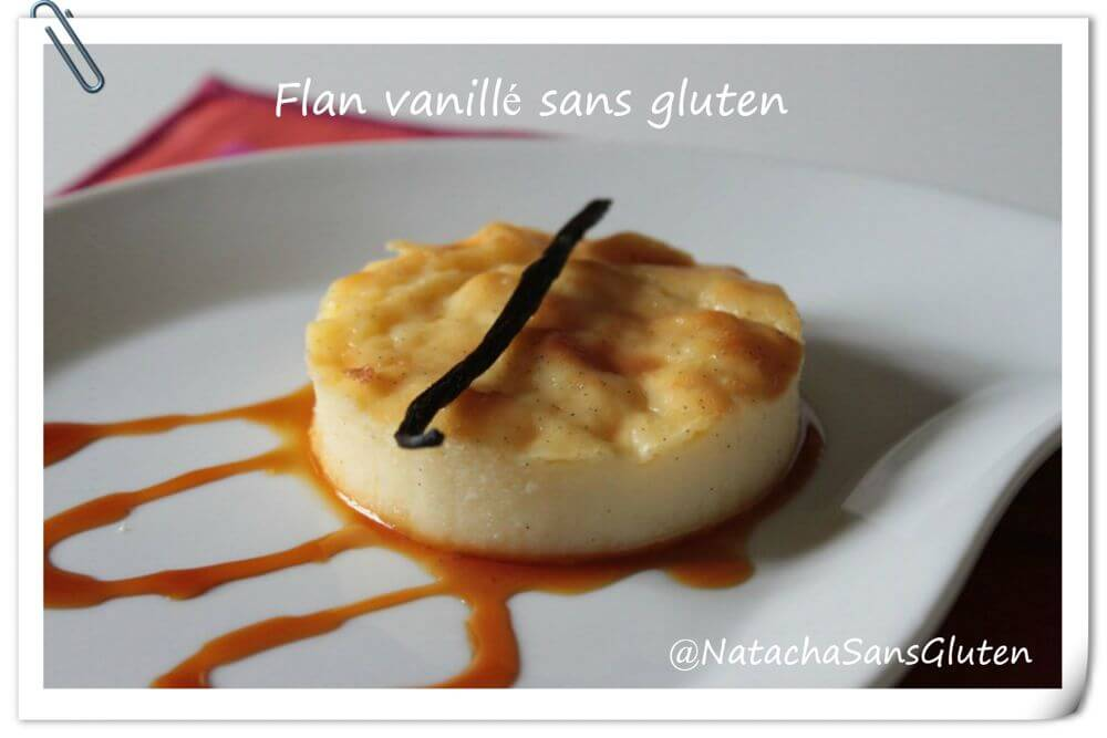 Flan vanillé sans gluten
