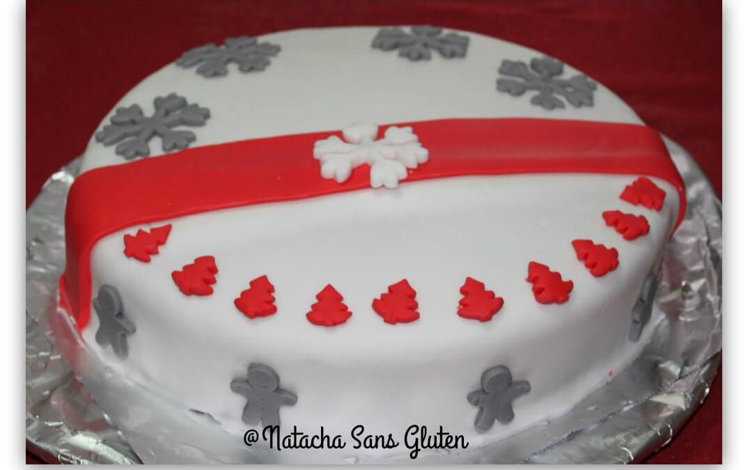 Gâteau de fête sans gluten (génoise chocolat et chantilly framboise)