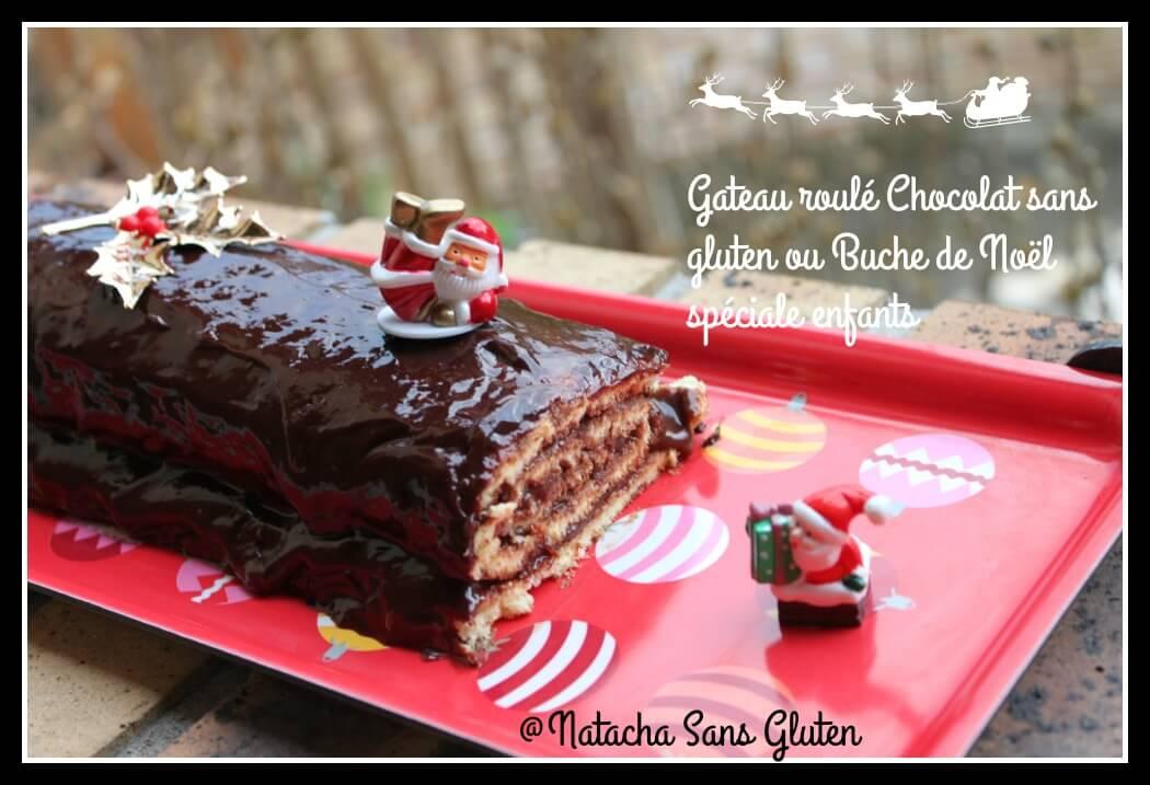 Gateau roulé chocolat sans gluten