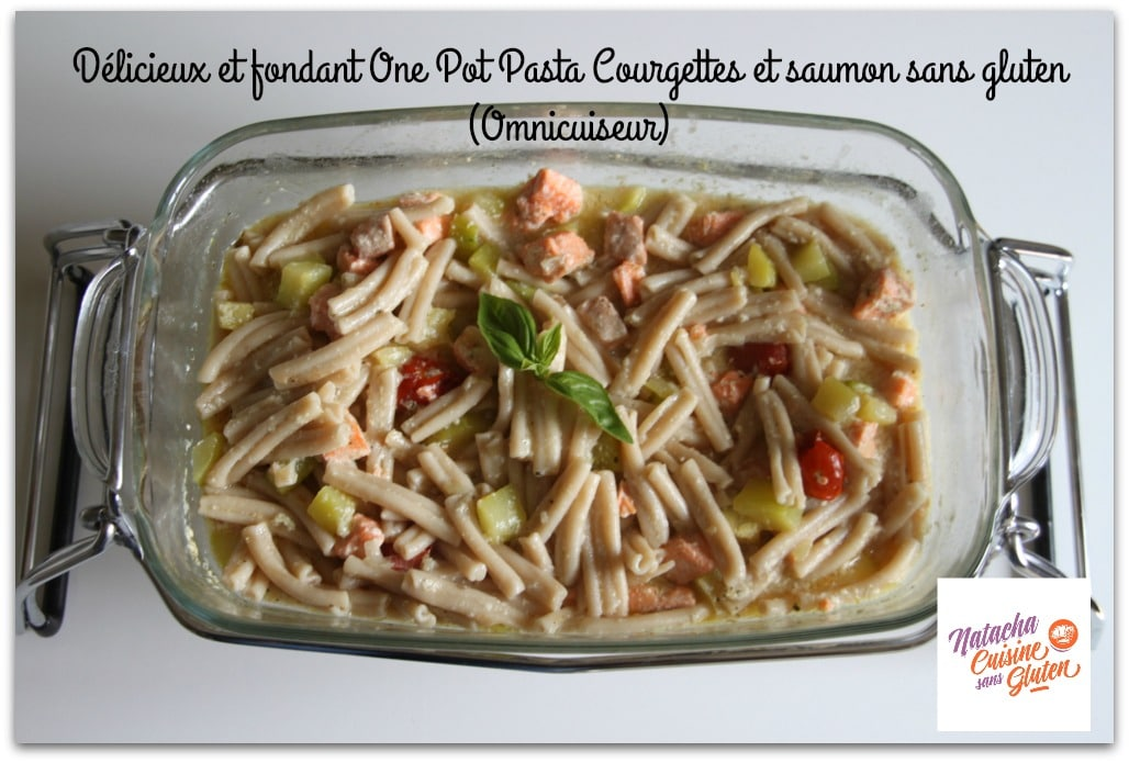 one pot pasta saumon courgettes sans gluten