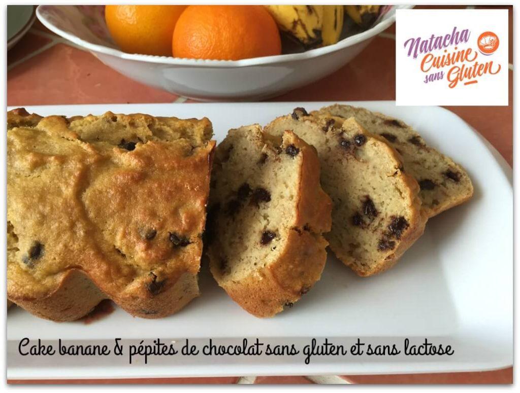 Cake aux bananes et aux pépites de chocolat sans gluten