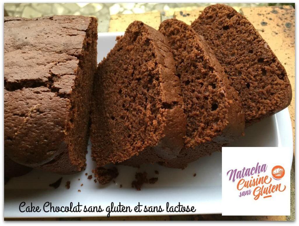 Cake chocolat sans gluten sans lactose