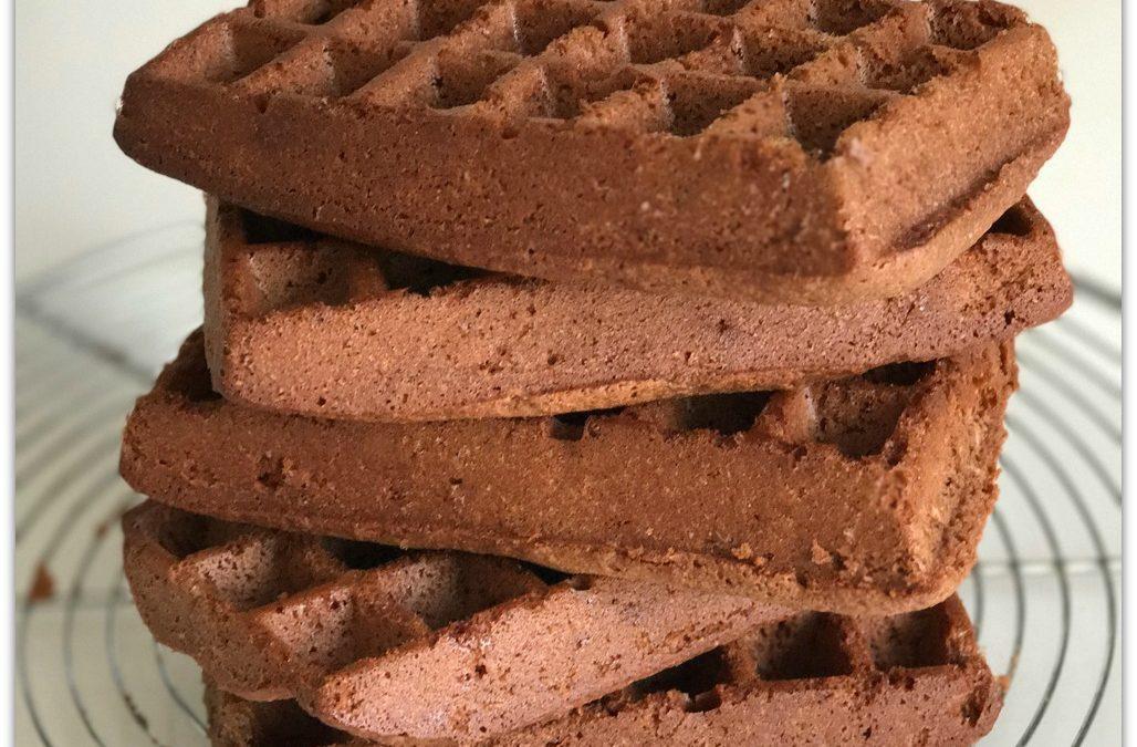 Gaufres au chocolat sans gluten