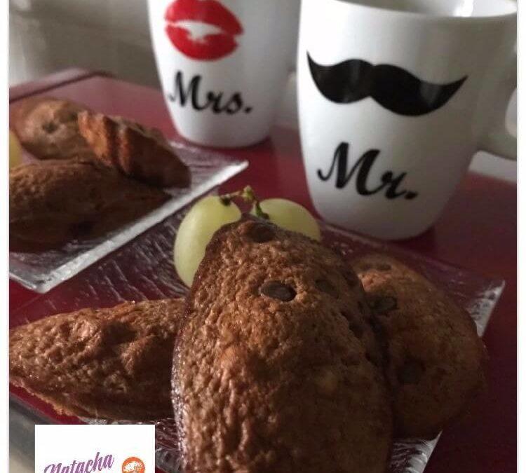 Madeleines au chocolat sans gluten